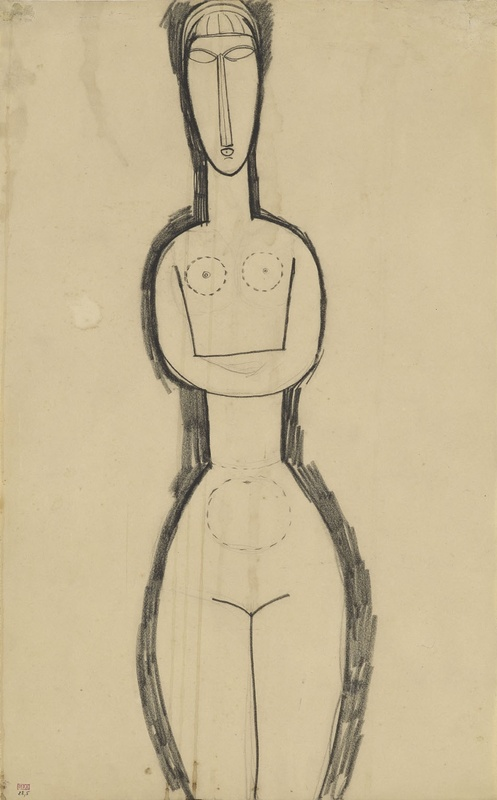 Amedeo Modigliani, 'Study for The Standing Nude Sculpture' c.1911